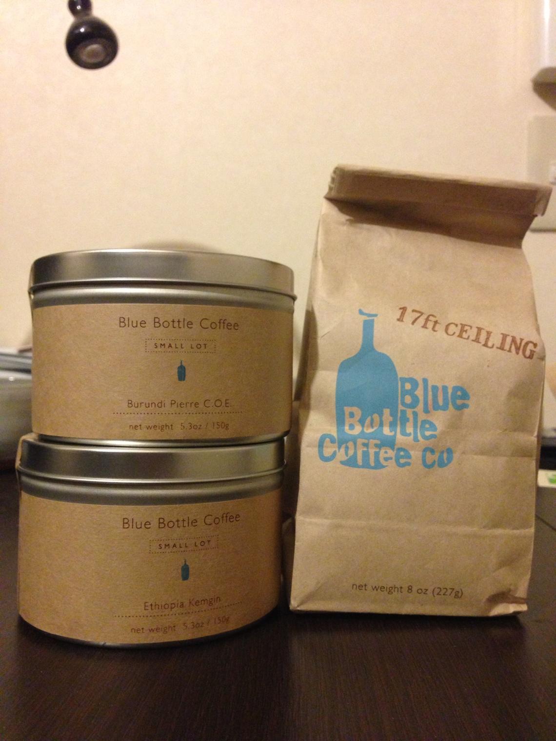 ブルーボトルコーヒーのパッケージ